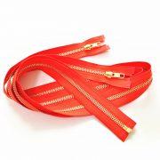 metal zipper gold zipper
