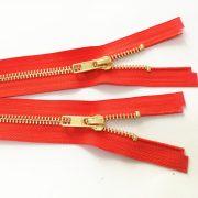 Gold metal zipper