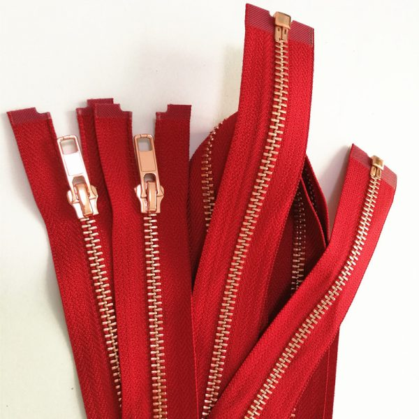 High quality shinny rose gold zipper for clothes