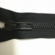 Open ended matte black zipper for garments
